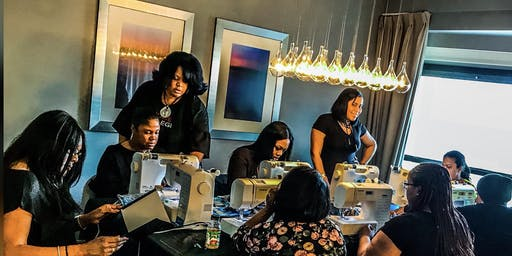 Detroit MI Lace Front Wig Making Class with Sewing Machine