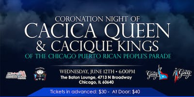 Coronation of Cacica Queen and Cacique King - TO BUY TICKETS CLICK BELOW
