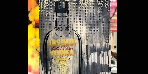 Absolut Vodka Bottle Limited Edition Paint and Sip Brisbane 11.7.19