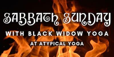 Sabbath Sunday: Black Sabbath Flow w/ Black Widow Yoga at Atypical Yoga