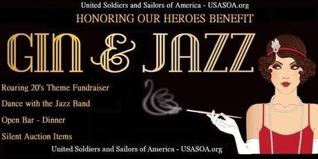 USASOA Supporting Our Heroes 2019  - Gin & Jazz Roaring 20's Theme Gala tickets