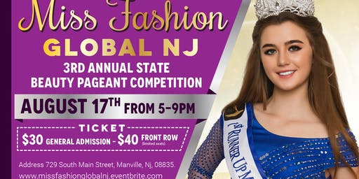 Miss Fashion Global NJ 2019 State Finale