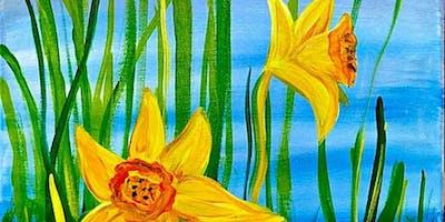 Paint Wine Denver Daffodils Sat June 8th 11am $25