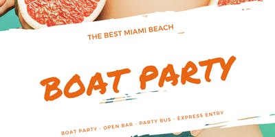 Miami Beach Memorial Day Boat Party Unlimited Drinks,Food -Jet Ski & Banana boat
