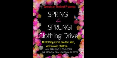 Spring has Sprung Clothing Drive