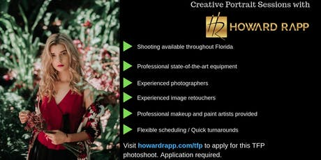 Creative Portrait Photoshoots in Boca Raton tickets