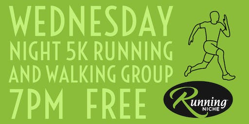 Weekly Wednesday Night 5K Running and Walking Group in the Grove