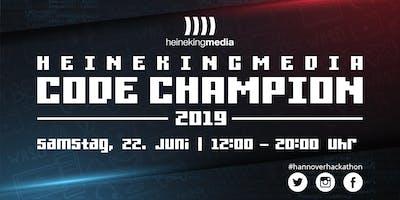 "Hackathon \""heinekingmedia Code Champion 2019\"" in Hannover"