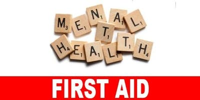 ***** Mental Health First Aid Training Course - Tuesday 9th and Wednesday 10th July 2019 (TWO DAY) - WINSFORD 1-5 BID