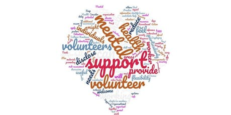 Supporting volunteers with mental health needs tickets