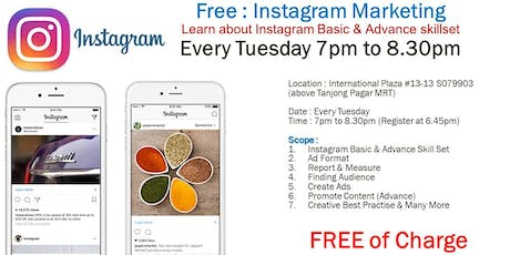Instagram Basic & Advance Class (FREE) tickets