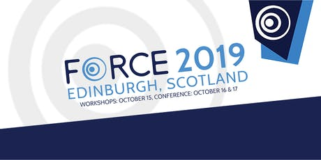 FORCE2019 - Edinburgh tickets