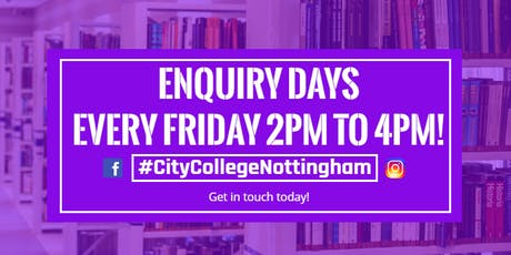 City College Nottingham - Course Enquiry Days tickets
