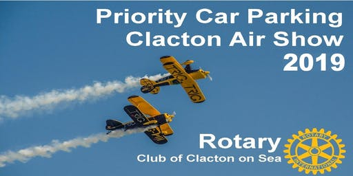 Orange Priority Parking, Clacton Air Show 2019, 22nd and 23rd August 2019