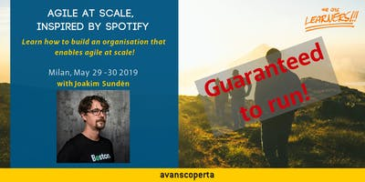 Agile at Scale, Inspired by Spotify Workshop - May 2019