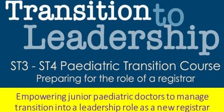Transition to Leadership Day 3: 22nd Nov 2019 tickets