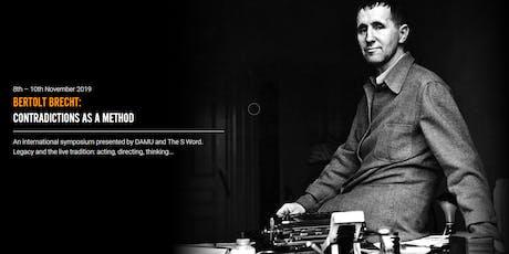 Bertolt Brecht: Contradictions as A Method - an international symposium. tickets