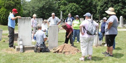 Gravestone Preservation Workshop Fall 2019