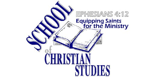 School of Christian Studies Spiritual Formation (Mod-01) One-Day Class