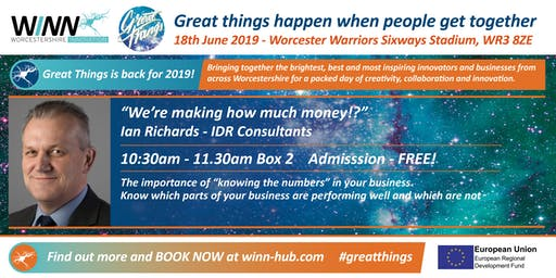 """""""We're making how much money!?"""" Ian Richards - IDR Consultants"""