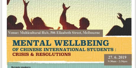Mental Wellbeing of Chinese International Students: Crisis & Resolutions tickets