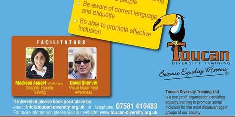 Disability Equality & Visual Impairment Awareness Training tickets