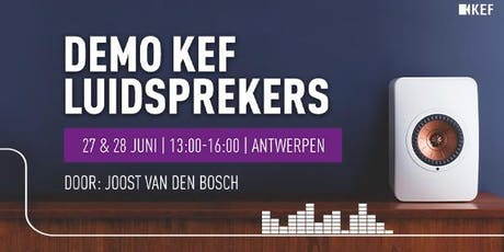 Demo KEF Luidsprekers tickets