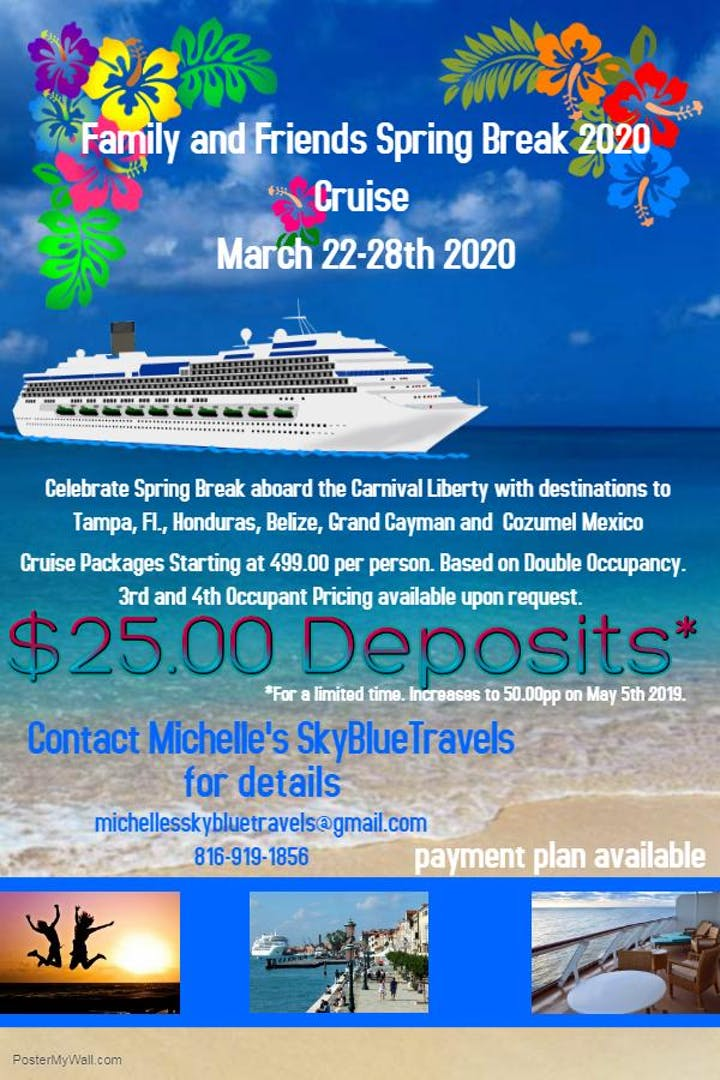 Spring Break Family And Friends 2020 Cruise Tickets Sat