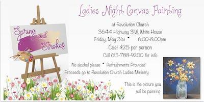 Spring & Strokes Ladies Canvas Party