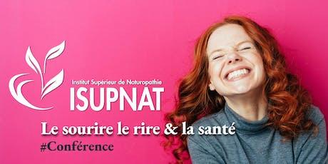 le sourire, le rire et la santé - Conférence billets