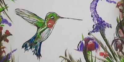 Painting and Pints - Hummingbird