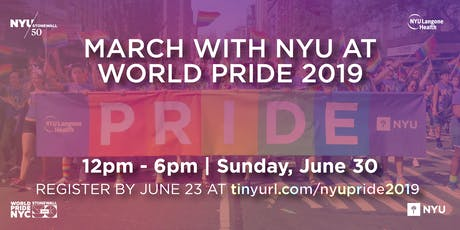 March with NYU at World Pride 2019! tickets