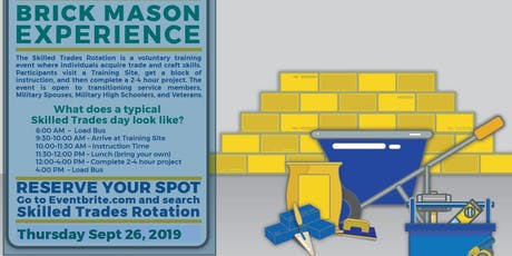 Brick Masons Hands on Experience (Skilled Trades Rotation) tickets