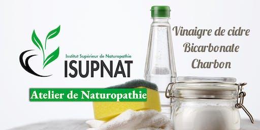 Vinaigre de cidre, bicarbonate et charbon - Atelier de naturopathie