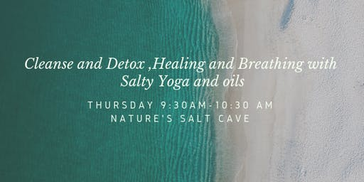 Morning Salty Yoga and oils in Salt Cave
