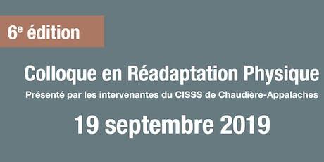 Colloque en Réadaptation Physique 2019 billets