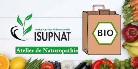 Acheter et cuisiner Bio sans se ruiner - Atelier de naturopathie billets