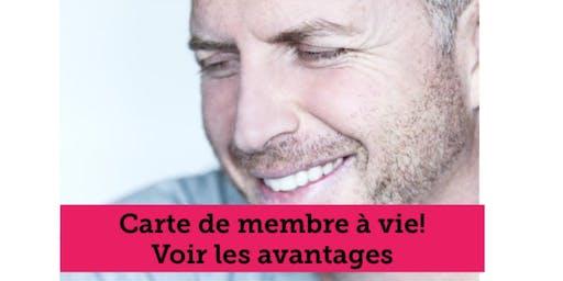 CARTE DE MEMBRE À VIE - voir les avantages - Conférencier Marc Gervais 158$