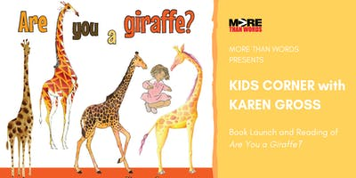 Kids Corner: Are You a Giraffe? Book Launch & Reading
