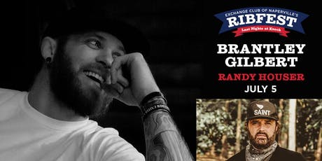 Brantley Gilbert &  Randy Houser: July 5th Naperville's Ribfest  tickets