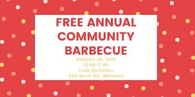 Free Annual Community Barbecue