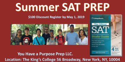 2ND COURSE ADDED! SUMMER SAT PREP COURSE: FIRST CLASS SOLD OUT! 3 WEEKS ONLY!