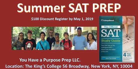 BEST SAT PREP COURSE! Summer Prep!! Better SAT Score for October 2019 Exam! tickets