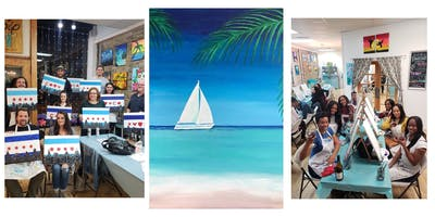 """BYOB Sip & Paint Event - """"Sailboat in Paradise"""""""