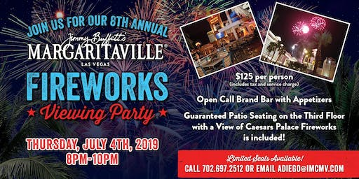 Margaritaville's 8th Annual Fireworks Viewing Party