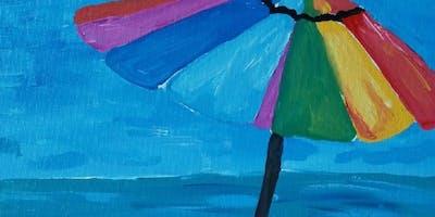 "Pour & Paint ""Beach Day"""