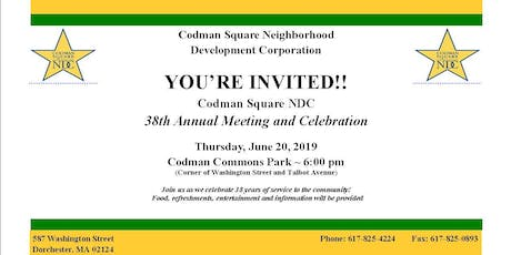Codman Square NDC 38th Annual Meeting and Celebration tickets