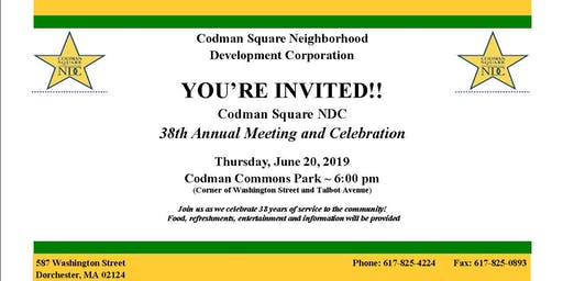 Codman Square NDC 38th Annual Meeting and Celebration