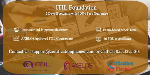 ITIL Foundation 2 Days Classroom in San Jose