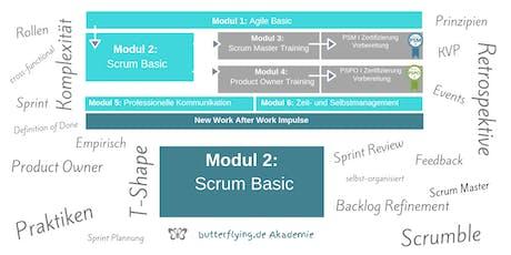 MODUL 2: Scrum Basic - Agilität anwenden   butterflying.de Akademie Tickets